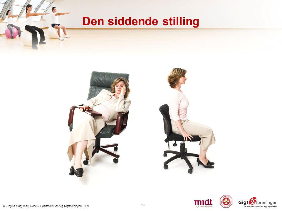 Den siddende stilling