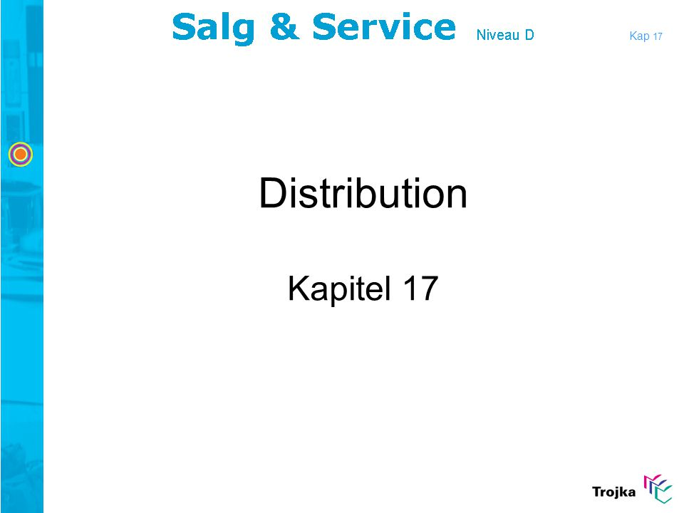 Kap 17 Distribution Kapitel 17