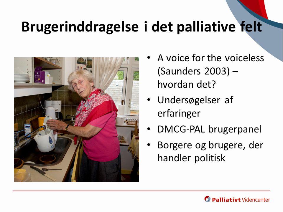 Brugerinddragelse i det palliative felt