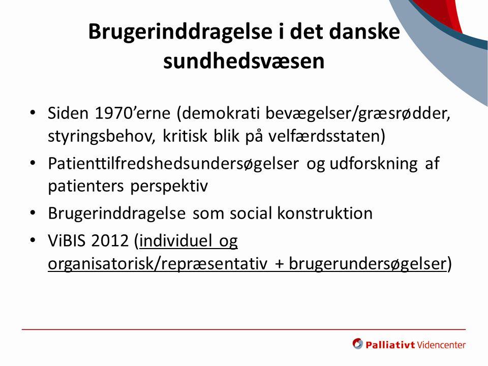 Brugerinddragelse i det danske sundhedsvæsen