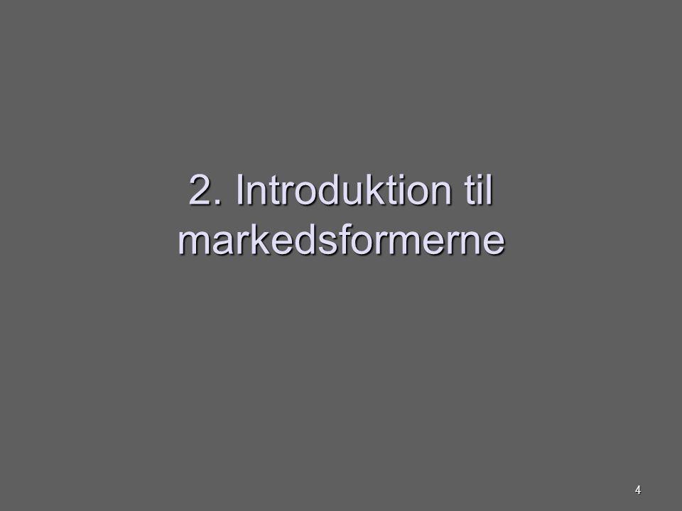2. Introduktion til markedsformerne