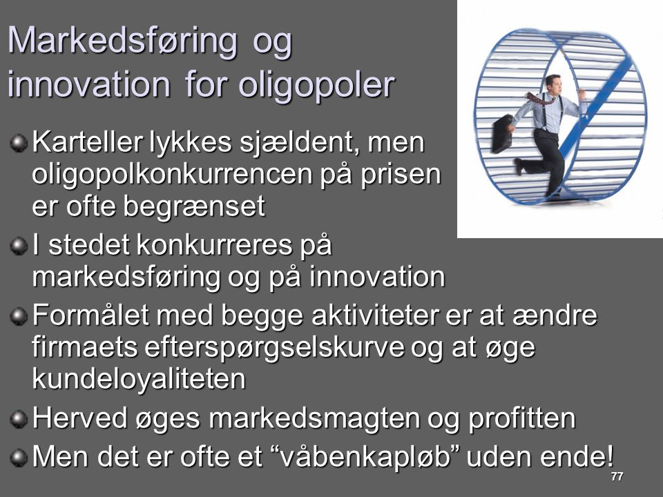 Markedsføring og innovation for oligopoler