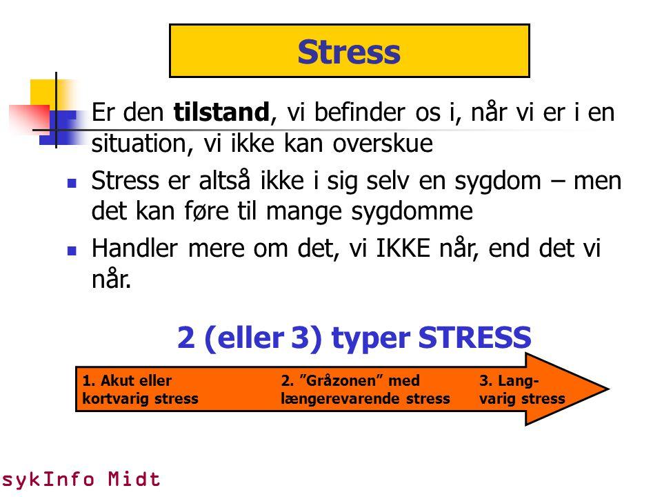 Stress 2 (eller 3) typer STRESS