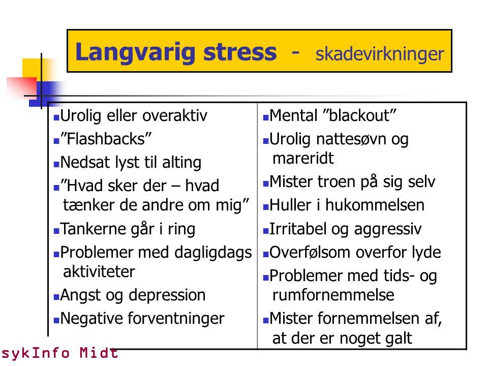 Langvarig stress - skadevirkninger