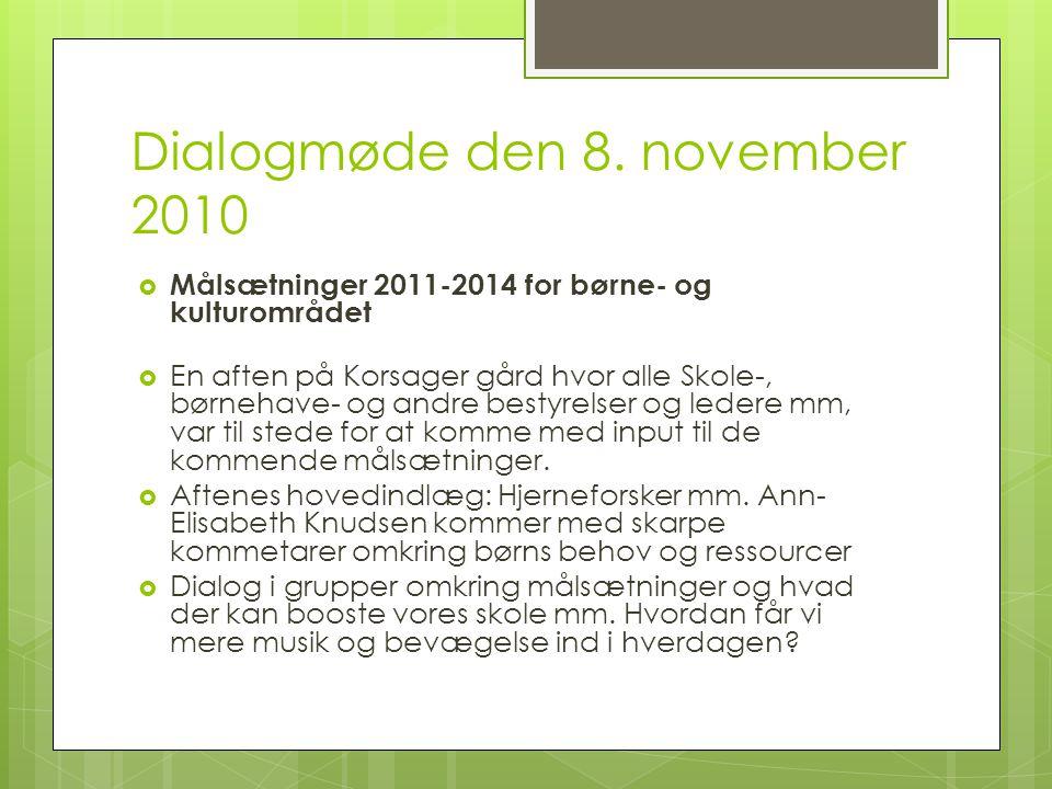 Dialogmøde den 8. november 2010
