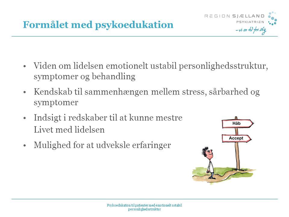 Formålet med psykoedukation