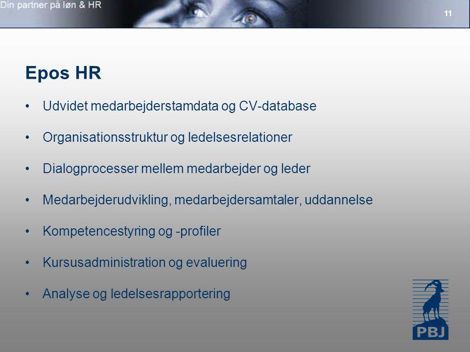 Epos HR Udvidet medarbejderstamdata og CV-database