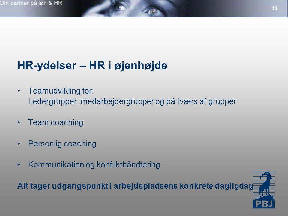 HR-ydelser – HR i øjenhøjde