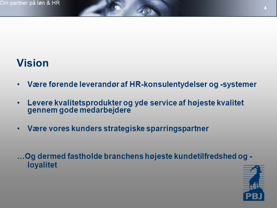 Vision Være førende leverandør af HR-konsulentydelser og -systemer
