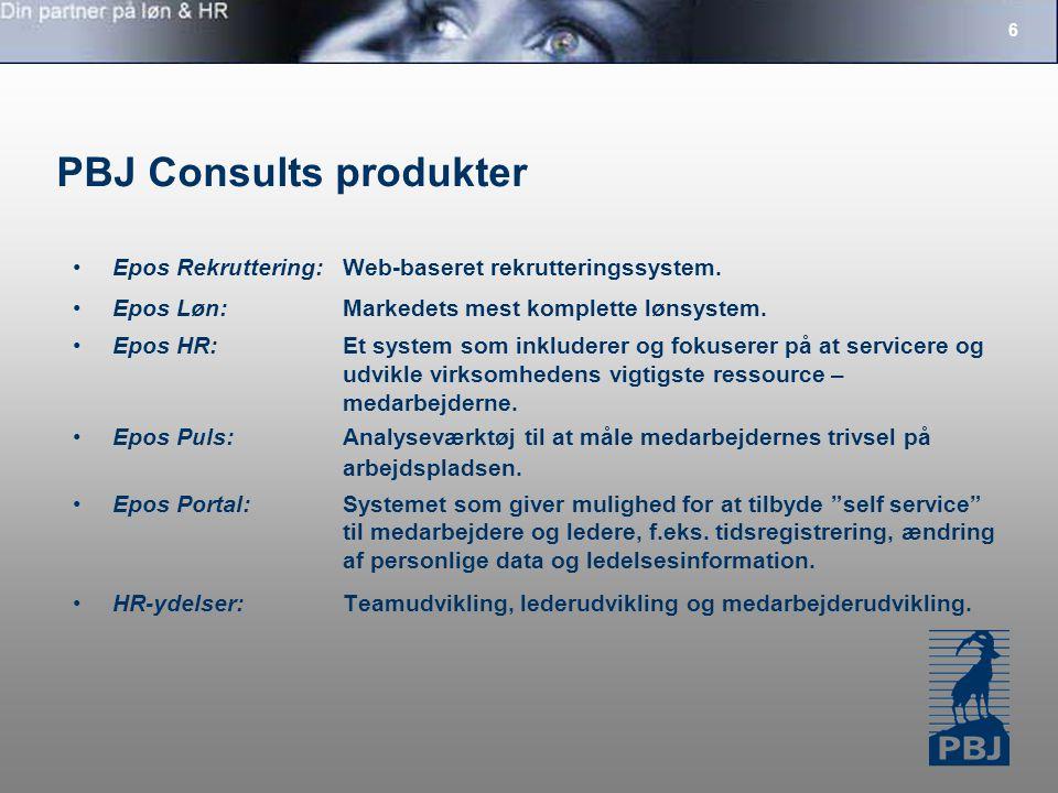 PBJ Consults produkter