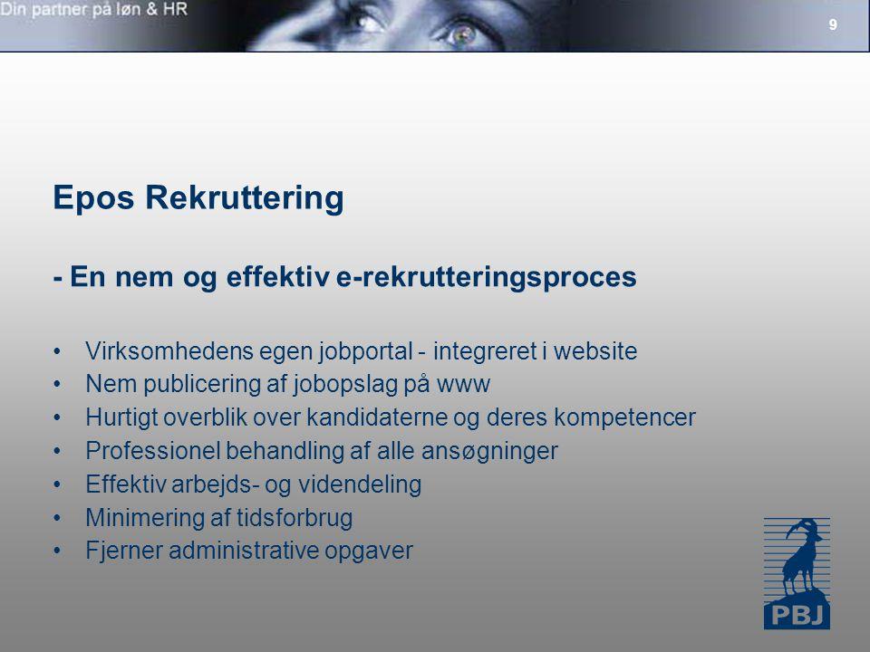 Epos Rekruttering - En nem og effektiv e-rekrutteringsproces