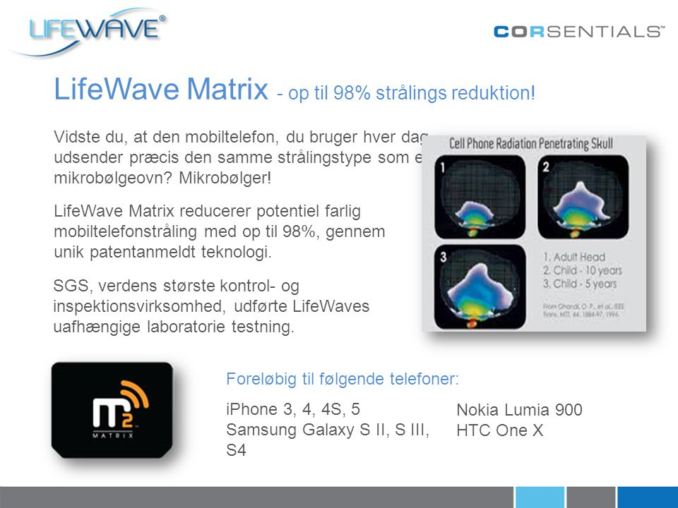 LifeWave Matrix - op til 98% strålings reduktion!