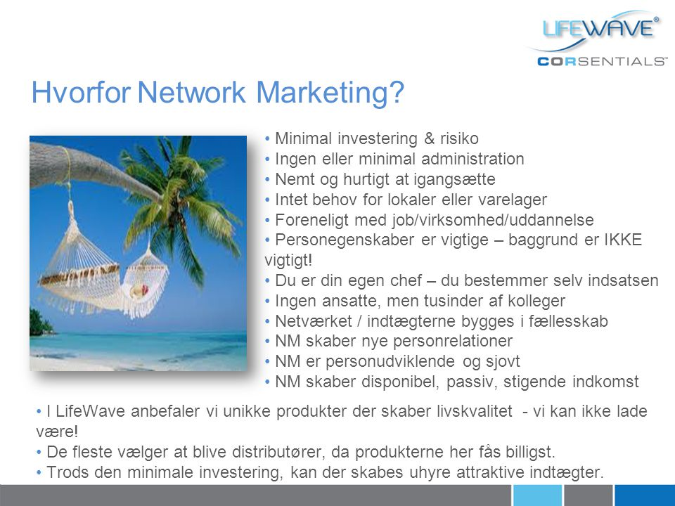 Hvorfor Network Marketing