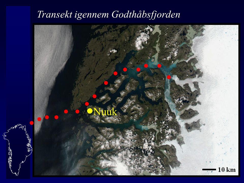 Nuuk                Transekt igennem Godthåbsfjorden