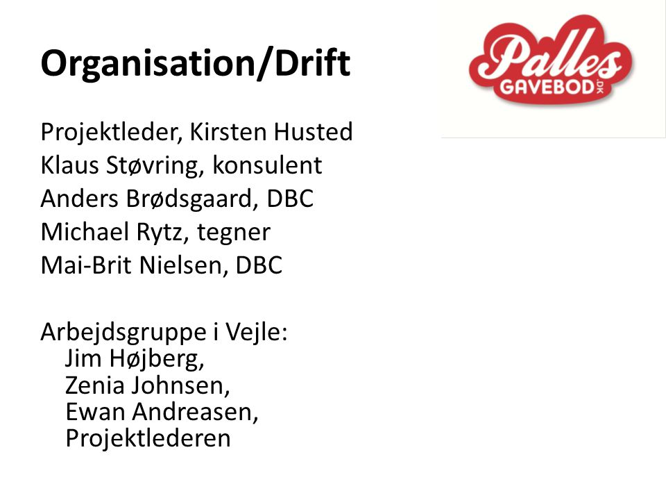 Organisation/Drift Projektleder, Kirsten Husted