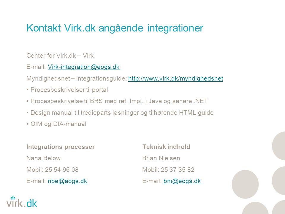 Kontakt Virk.dk angående integrationer