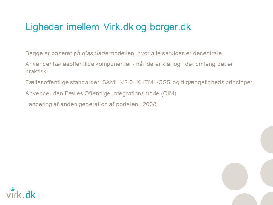 Ligheder imellem Virk.dk og borger.dk