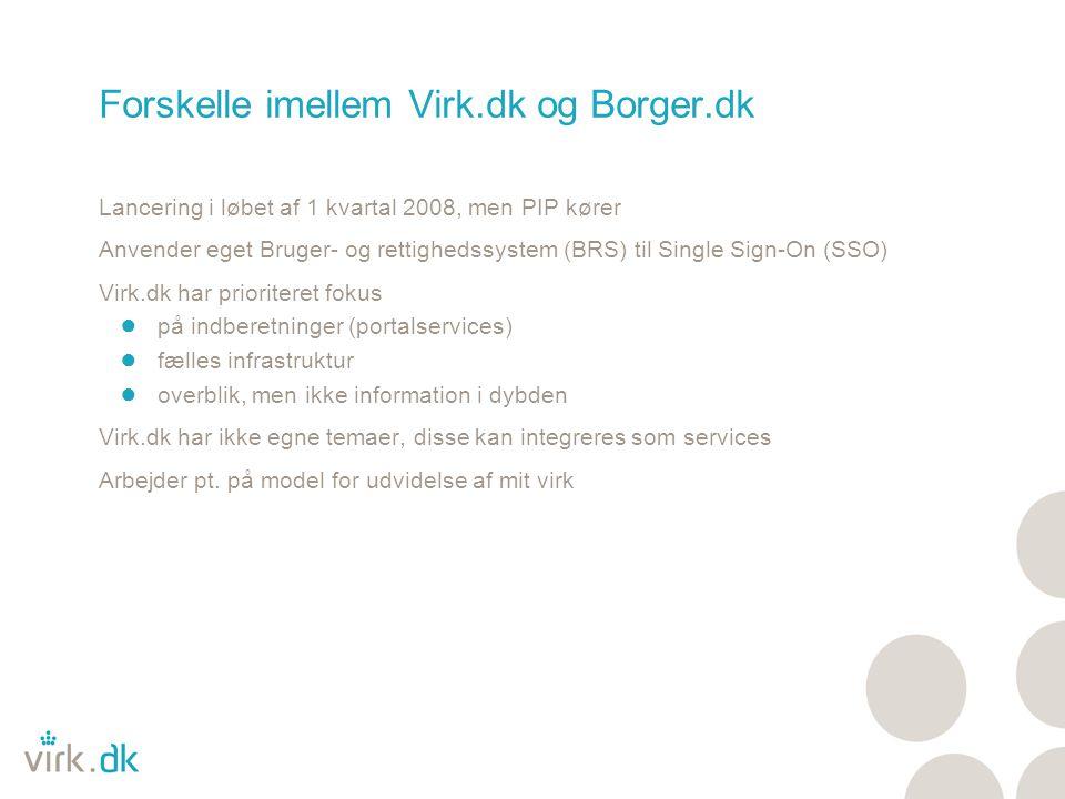 Forskelle imellem Virk.dk og Borger.dk