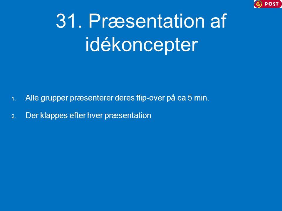 31. Præsentation af idékoncepter