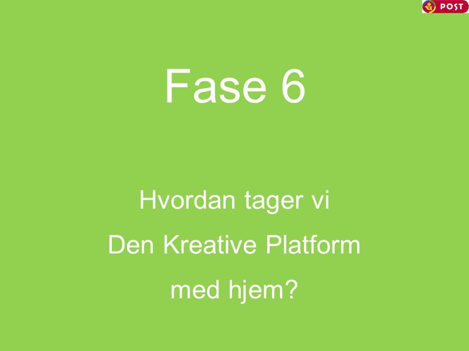 Hvordan tager vi Den Kreative Platform med hjem