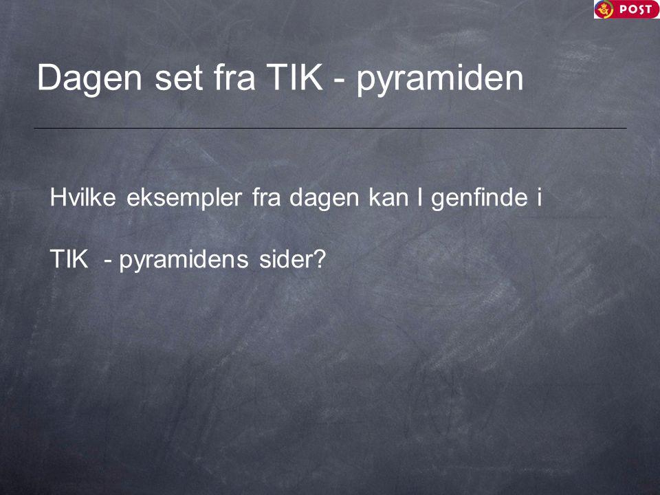 Dagen set fra TIK - pyramiden