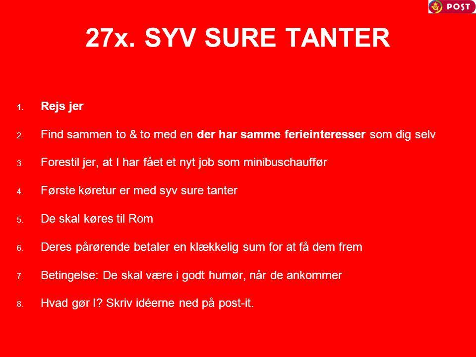 27x. SYV SURE TANTER Rejs jer