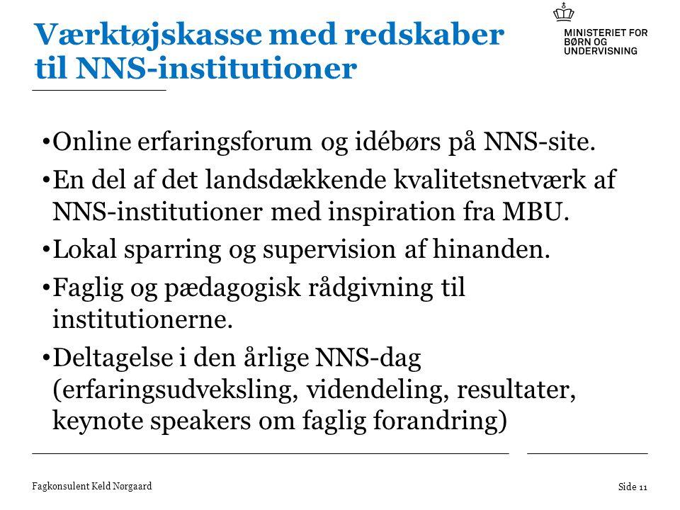 Værktøjskasse med redskaber til NNS-institutioner