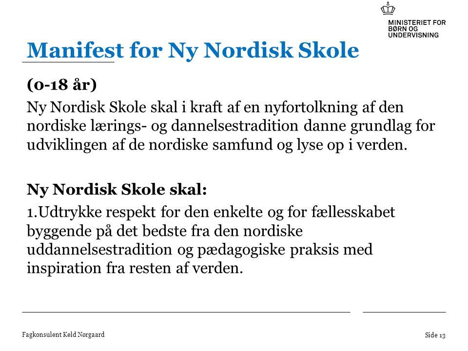 Manifest for Ny Nordisk Skole