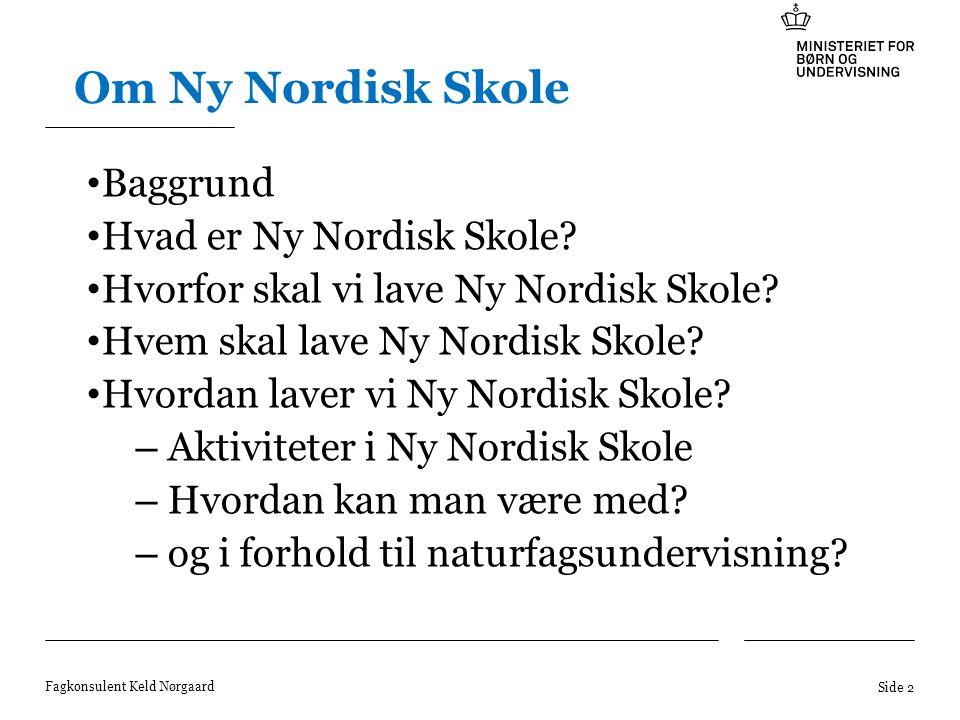 Om Ny Nordisk Skole Baggrund Hvad er Ny Nordisk Skole