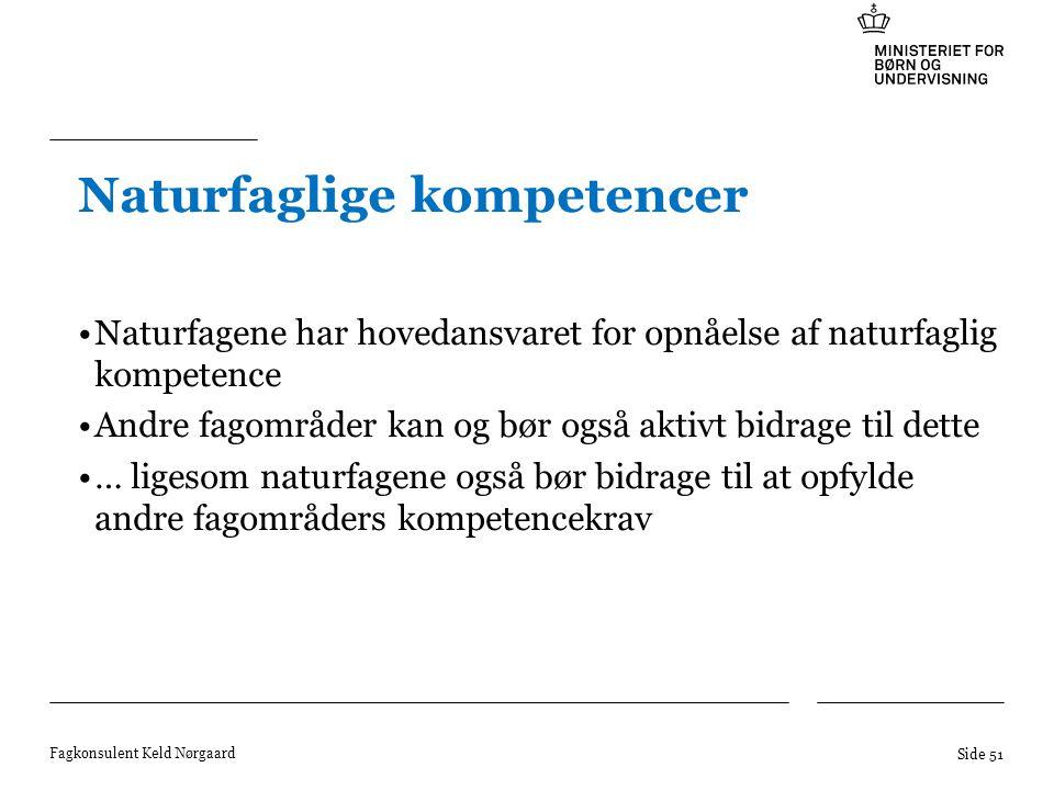 Naturfaglige kompetencer