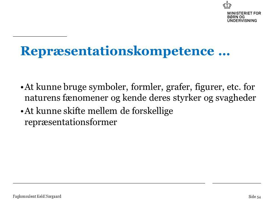 Repræsentationskompetence …