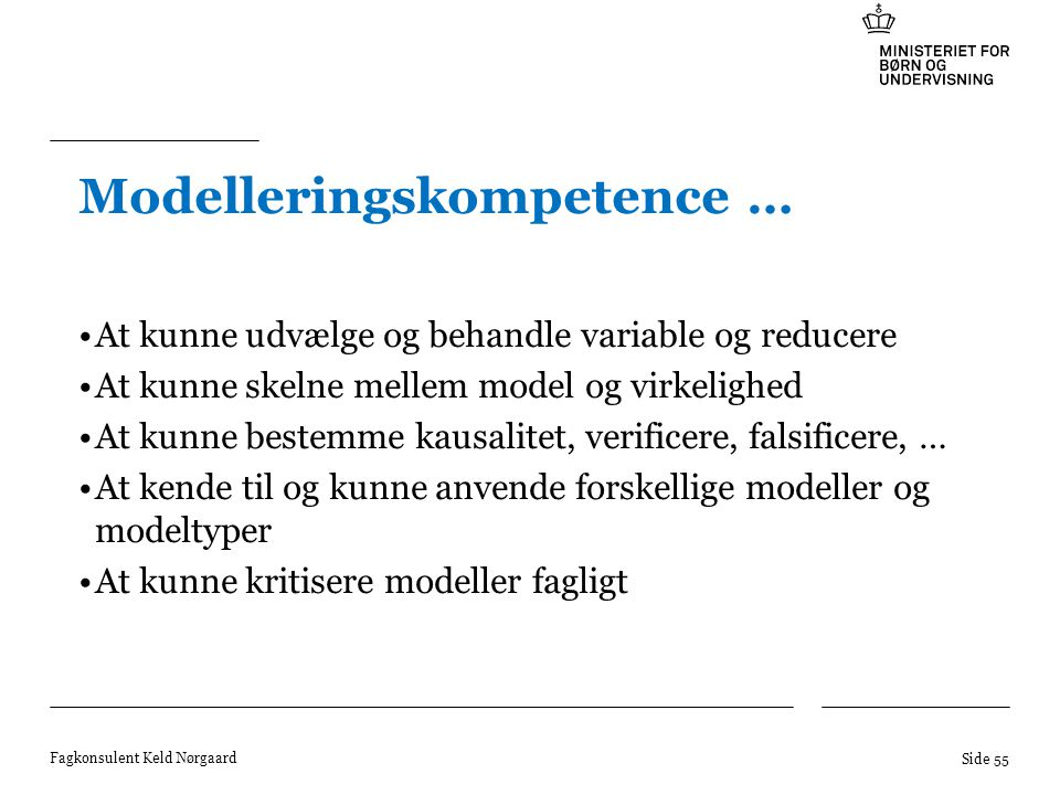 Modelleringskompetence …