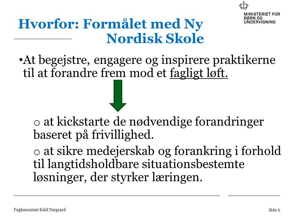 Hvorfor: Formålet med Ny Nordisk Skole