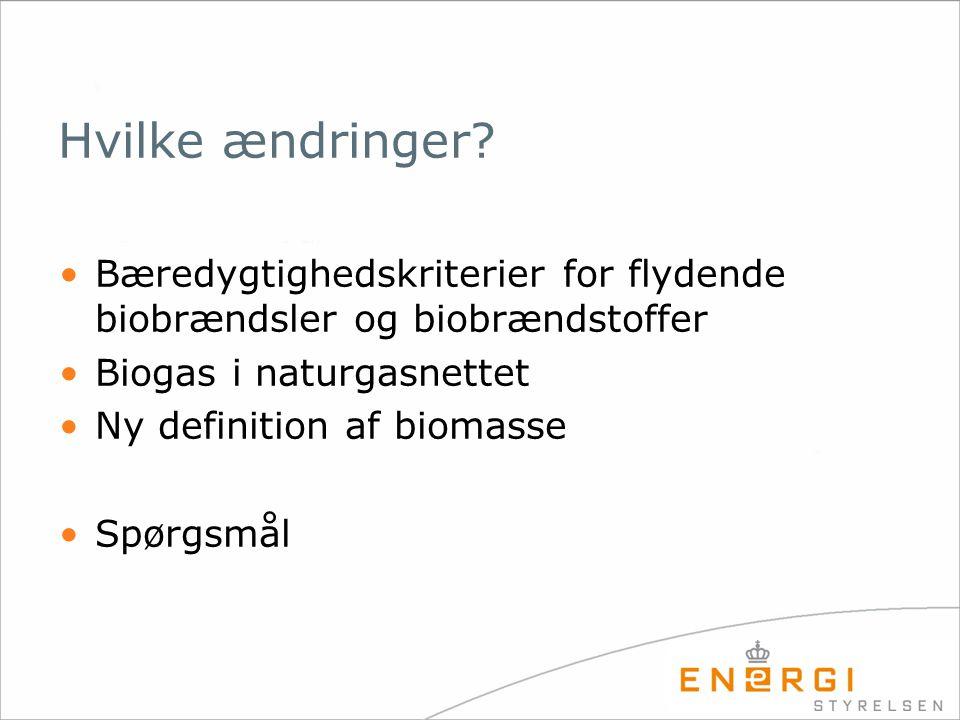 Bæredygtighedskriterier for flydende biobrændsler og biobrændstoffer