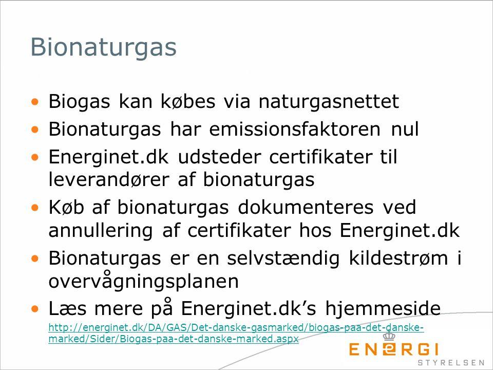 Bionaturgas Biogas kan købes via naturgasnettet