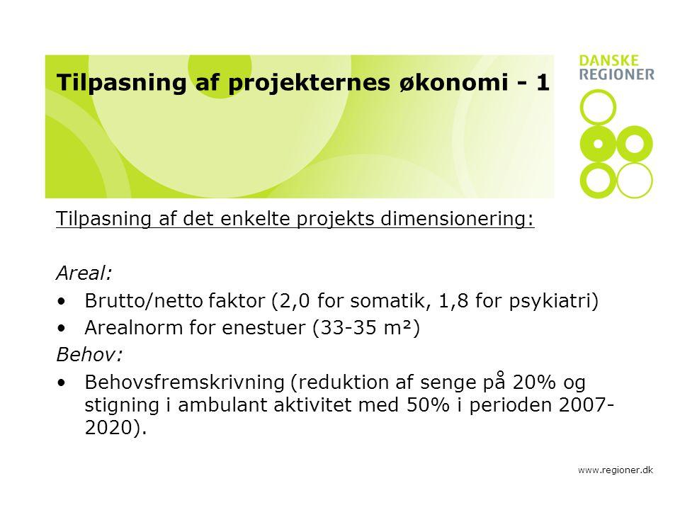 Tilpasning af projekternes økonomi - 1