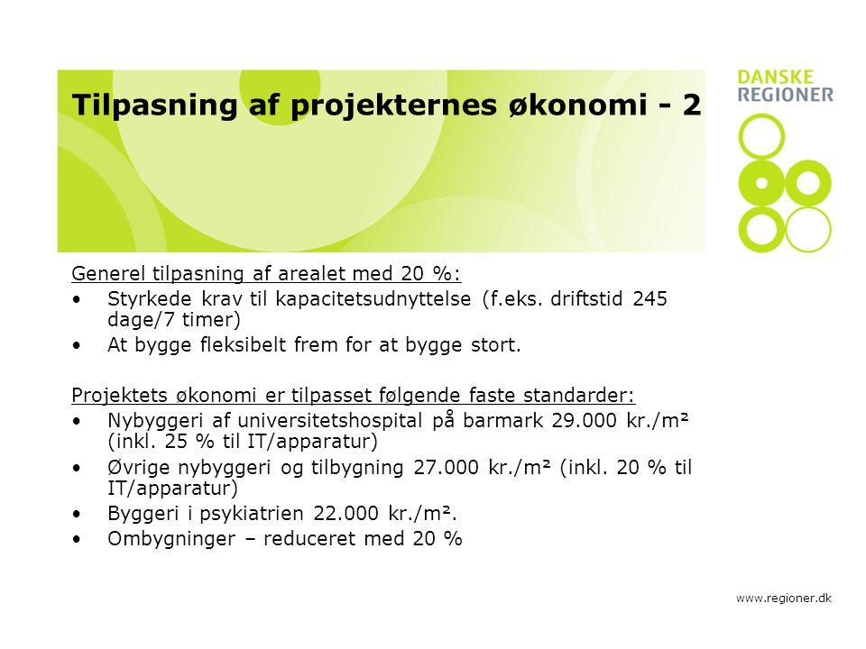 Tilpasning af projekternes økonomi - 2