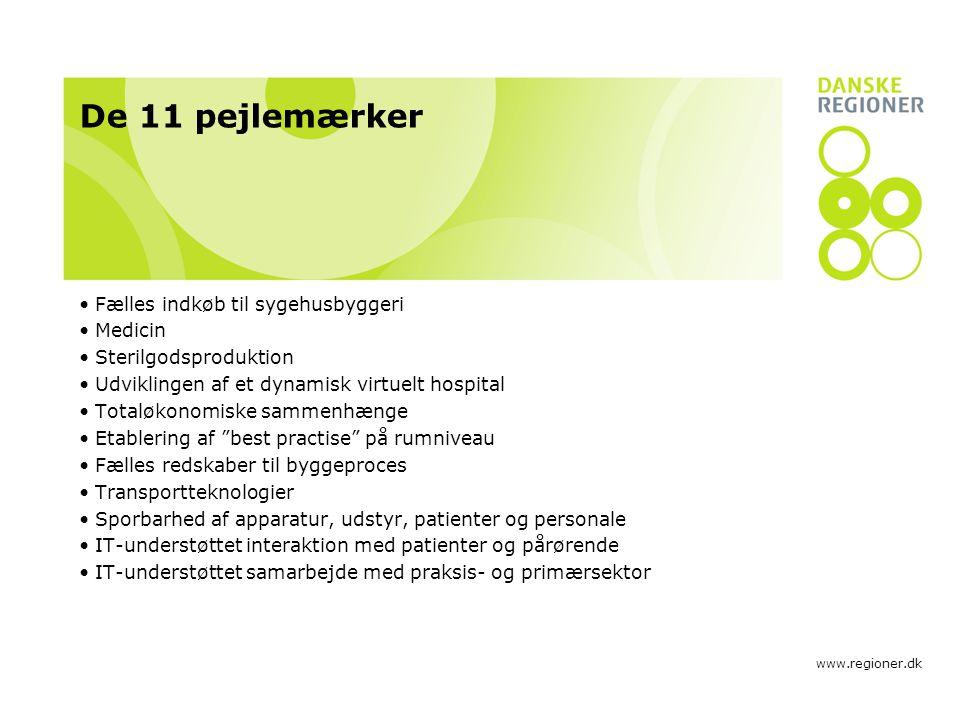 De 11 pejlemærker Fælles indkøb til sygehusbyggeri Medicin