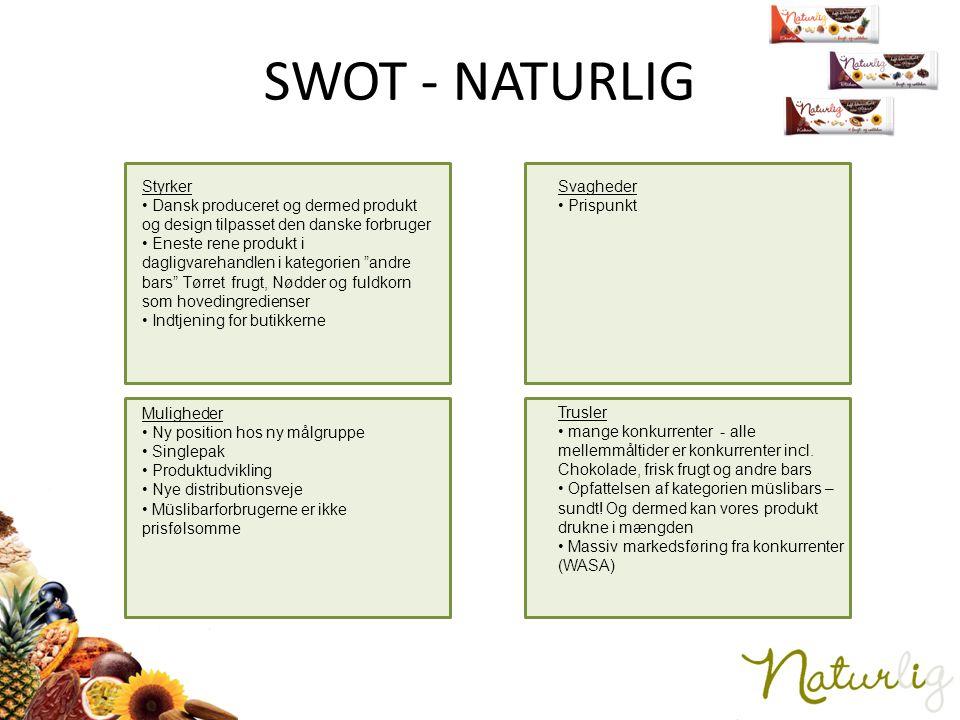 SWOT - NATURLIG Styrker
