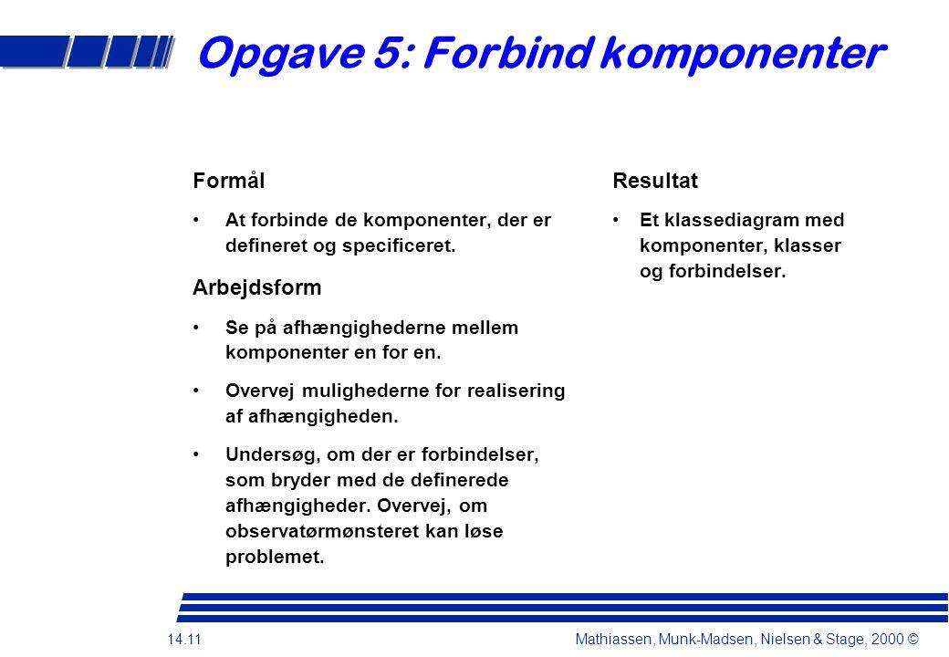 Opgave 5: Forbind komponenter