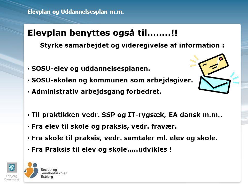 Elevplan og Uddannelsesplan m.m.
