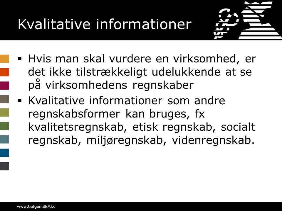 Kvalitative informationer