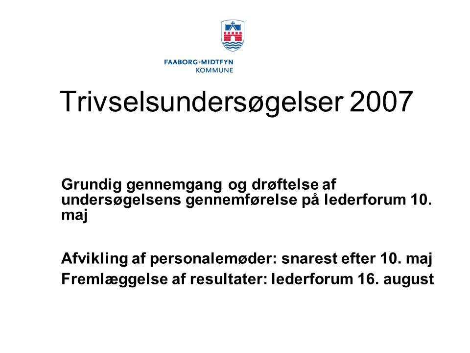 Trivselsundersøgelser 2007