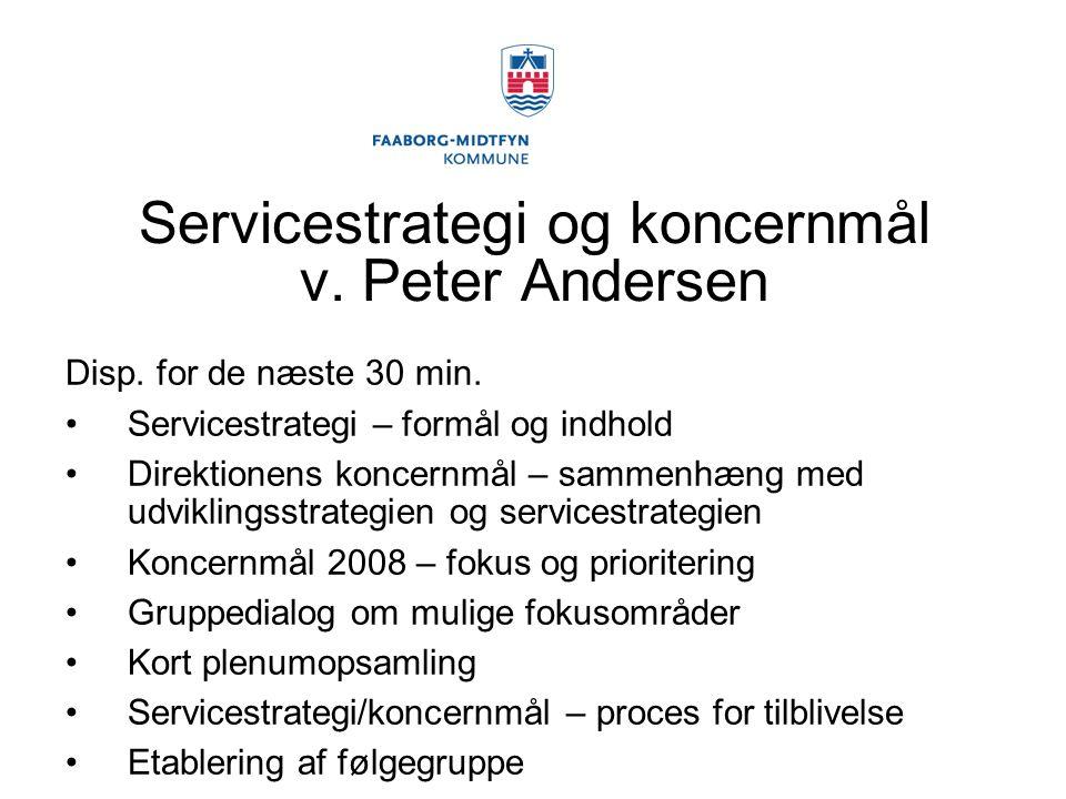 Servicestrategi og koncernmål v. Peter Andersen
