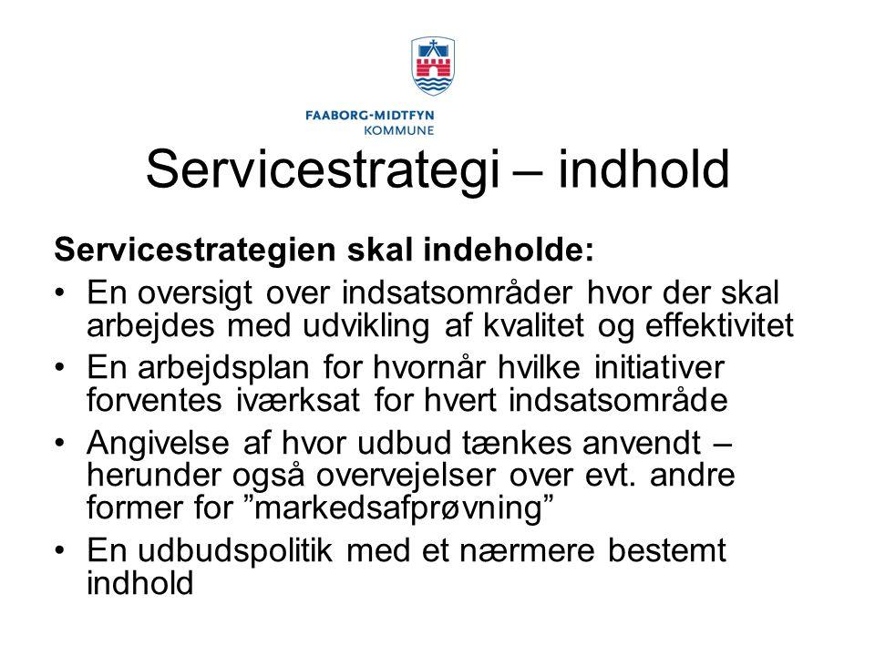 Servicestrategi – indhold