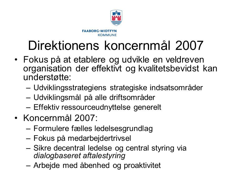 Direktionens koncernmål 2007
