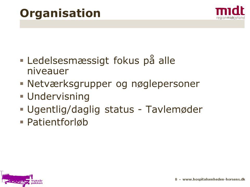 Organisation Ledelsesmæssigt fokus på alle niveauer