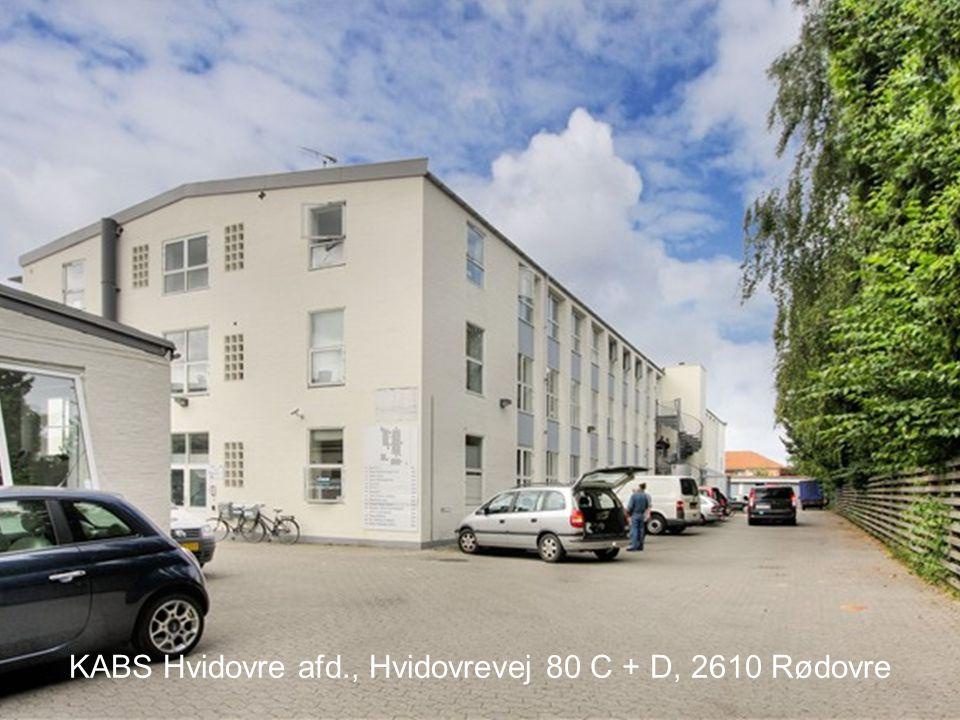 KABS Hvidovre afd., Hvidovrevej 80 C + D, 2610 Rødovre