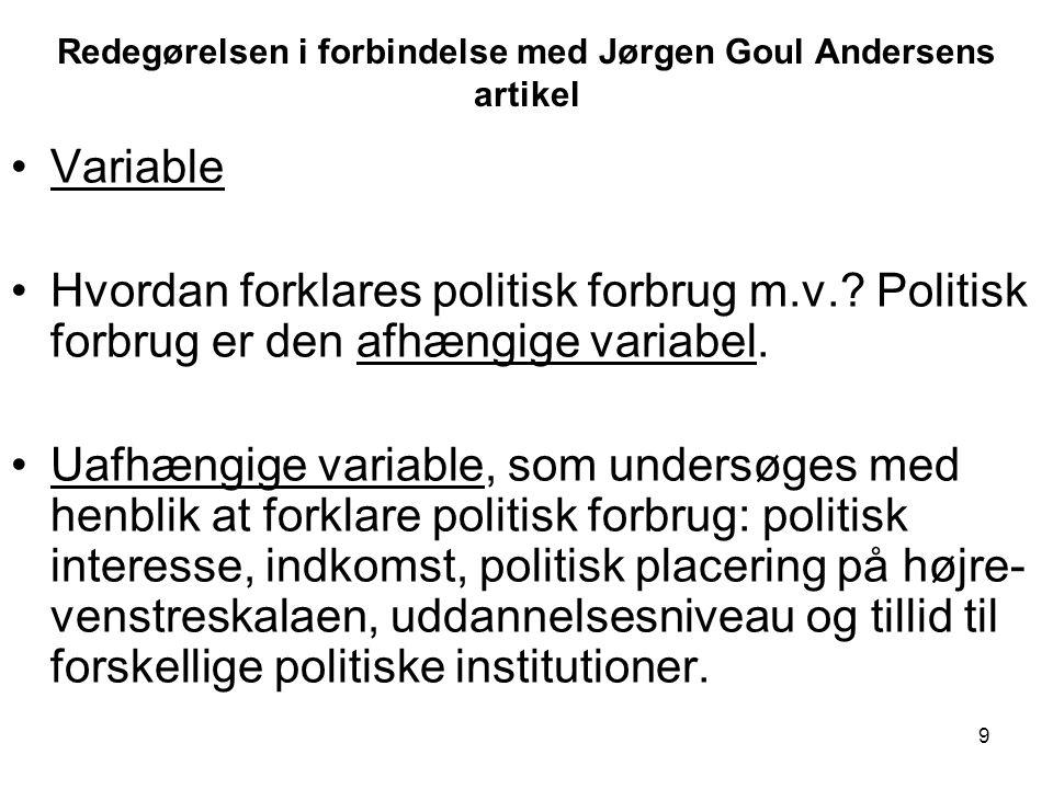 Redegørelsen i forbindelse med Jørgen Goul Andersens artikel