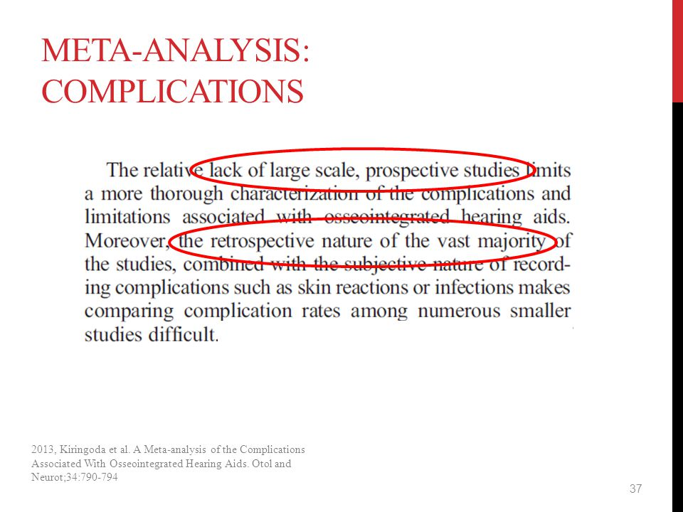 Meta-analysis: complications